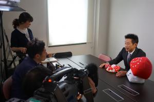 弊社開発商品「贅沢なきのこ汁」がテレビ神奈川「神奈川ビジネスUp To Date」で紹介されました